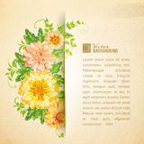 Wreath of beautiful summer flowers. Royalty Free Stock Image