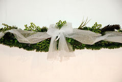 Wreath with bow Stock Photography