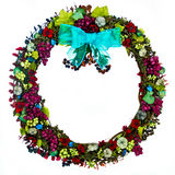 Wreath with Burgundy Grapes Royalty Free Stock Photos