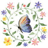 Wreath and butterfly Stock Photography