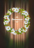 Wreath of camomile Royalty Free Stock Images