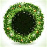 Wreath Christmas with Black Placeholder Stock Images