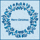 Wreath of  Christmas greeting card vector illustration Royalty Free Stock Images