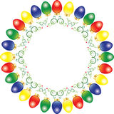 Wreath of Christmas lights Royalty Free Stock Image