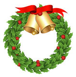 Wreath - Christmas Vector Illustration Stock Photo