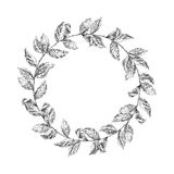 Wreath from coffee beans and berry Stock Photography