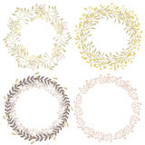 Wreath collection Stock Image