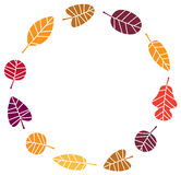Wreath with colorful Autumn Royalty Free Stock Photo
