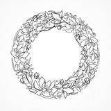 Wreath for coloring Stock Photo