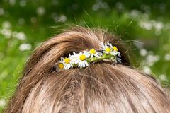 Wreath daisies  in hair Royalty Free Stock Photography