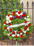 Wreath DC Office Killed Blair House Building Washington DC. Blair House Building Second White House, Washington DC.  Presidents-elect before inauguration live in Stock Images