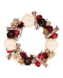 Wreath decorated with paper flower Royalty Free Stock Photography