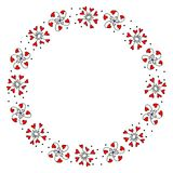 Wreath with Decorative Flowers of Hearts Royalty Free Stock Photo