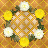 Wreath der Chrysanthemen Stockfotos
