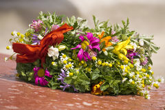 Wreath der wilden Blumen Stockbild
