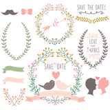 Wreath Design Elements Stock Images