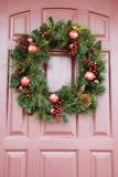 Wreath on door. Stock Images