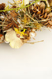 Wreath of dry branches and flowers Stock Photography