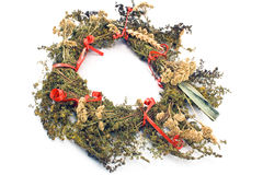 Wreath of dry herbs Royalty Free Stock Image
