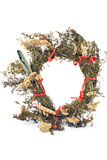Wreath of dry herbs Royalty Free Stock Photography
