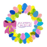 Wreath of Easter eggs vector Stock Image