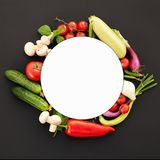 Perfect Vegetables on the Black Background stock image
