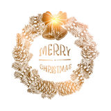 Wreath of fir branches Stock Images