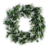 Wreath of fir branches isolated on white Royalty Free Stock Image
