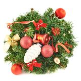 Wreath fir-tree branch decoration Stock Image