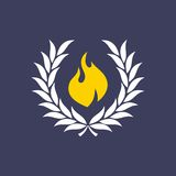 Wreath with fire. Theme  art illustration Stock Photography
