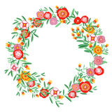 Wreath floral Royalty Free Stock Images