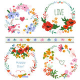 Wreath floral Stock Images