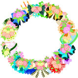 The wreath of flower objects Stock Photography