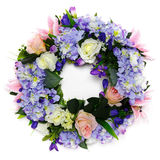 Wreath of Flower. On the white background Royalty Free Stock Image