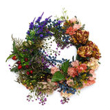 Wreath of Flower. On the white background Royalty Free Stock Photo
