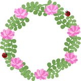 The wreath of flowers Stock Photo