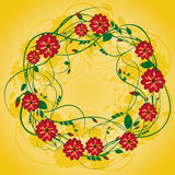 Wreath of flowers Royalty Free Stock Photo