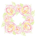 A wreath of flowers is drawn. Royalty Free Stock Photos