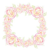 A wreath of flowers is drawn. Stock Images