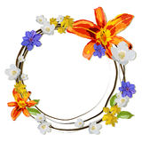 Wreath with flowers. Royalty Free Stock Photos