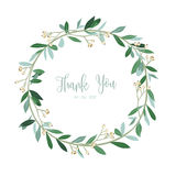 Wreath of flowers in romantic with white background. Illustration Royalty Free Stock Images