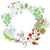 Wreath of flowers Royalty Free Stock Image