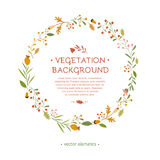 Wreath flowers with text Royalty Free Stock Photography