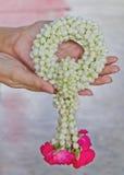 Wreath of fresh flowers Royalty Free Stock Photos