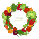 Wreath from fresh raw vegetables Royalty Free Stock Photography