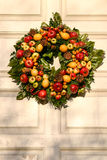 Wreath with fruit Royalty Free Stock Images