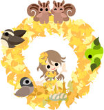 The wreath of the ginkgo Royalty Free Stock Photography