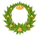 Wreath with a gold bells Stock Photography