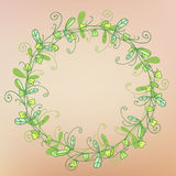 Wreath of grass pattern Royalty Free Stock Photo