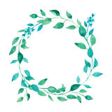 Wreath of green leaves Stock Image